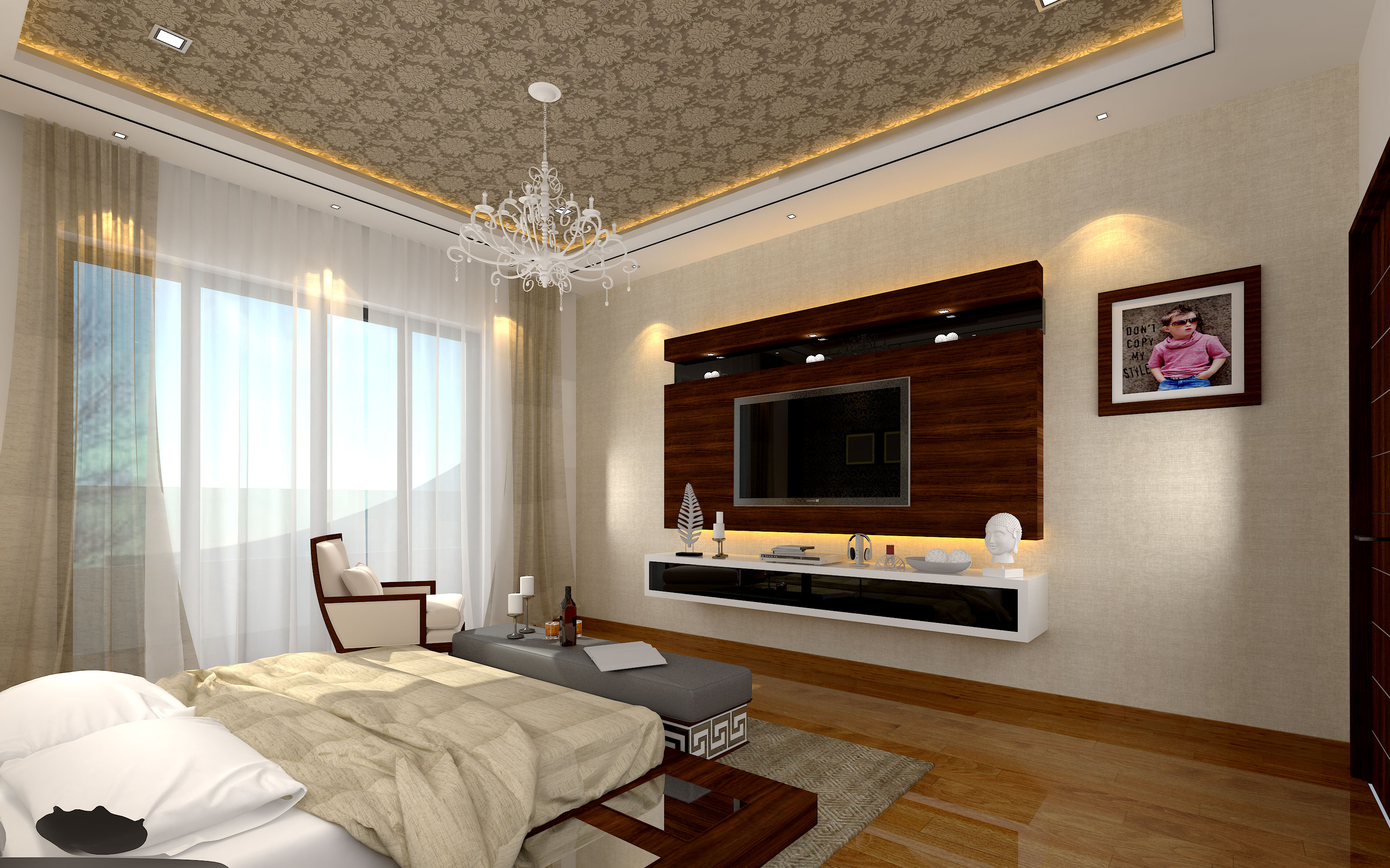 9 vastu tips to consider while decorating your master - Bedroom tv unit designs ...