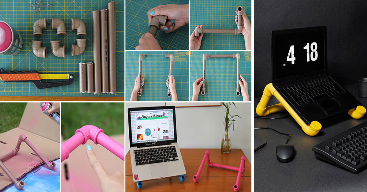 13.pvc pipe laptop stand