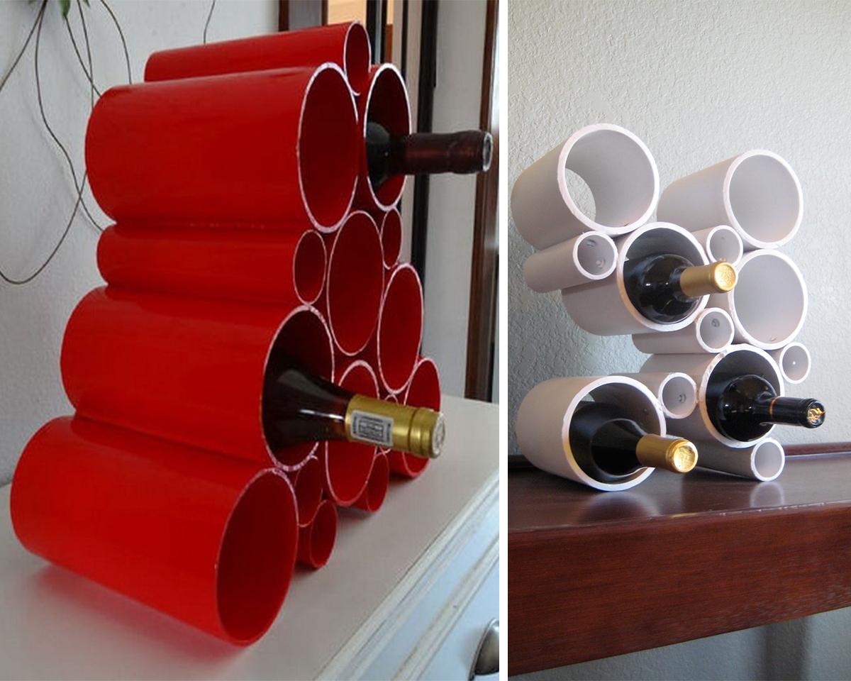 18.pvc pipe wine bottle holder