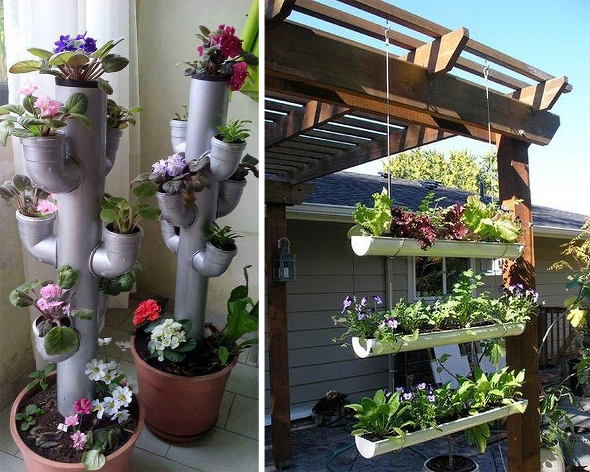 4.pvc pipe outdoor planter