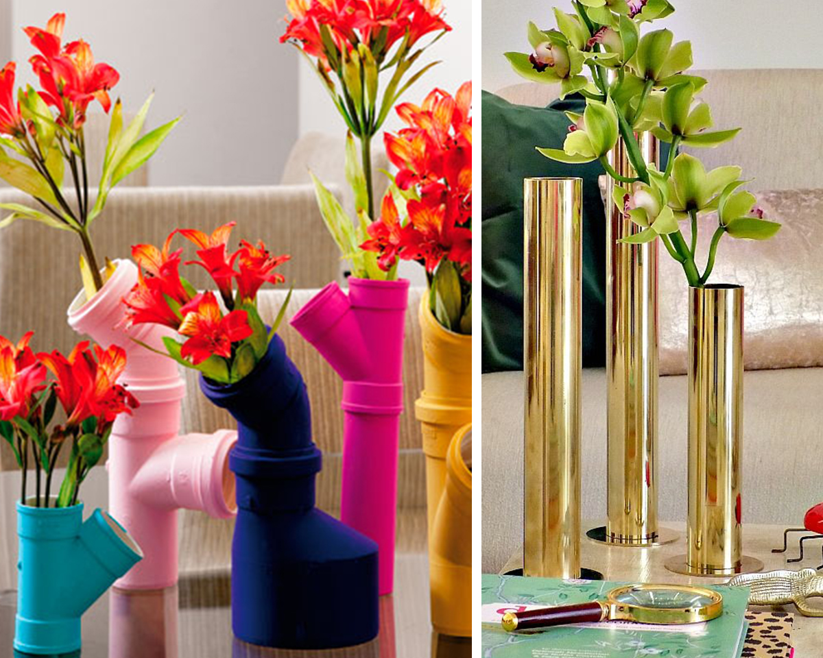 5.pvc pipe wall vases