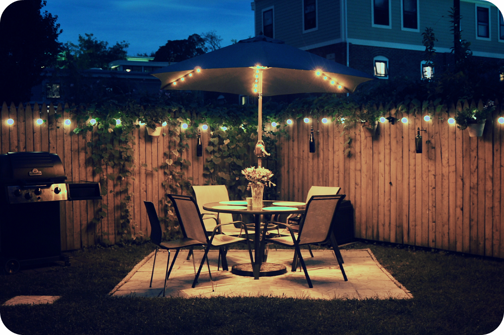 patio lighting ideas 17 garden fence lighting ideas that will melt your 31125