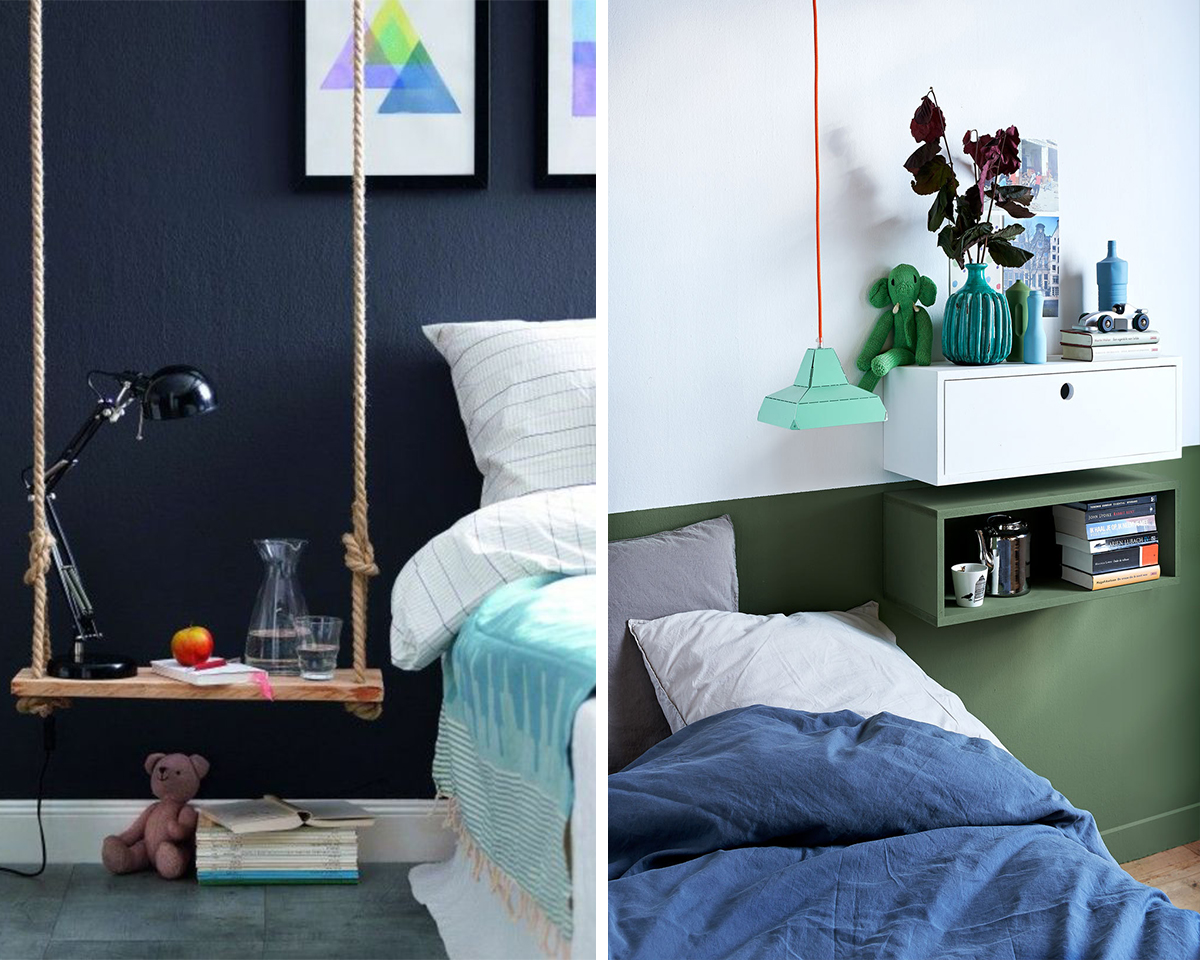 hanging bedside table for visual space (1)