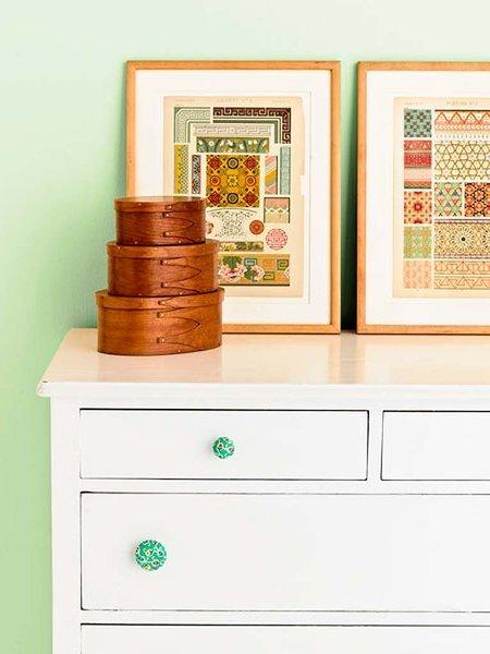 10.fabric coverd drawer pulls