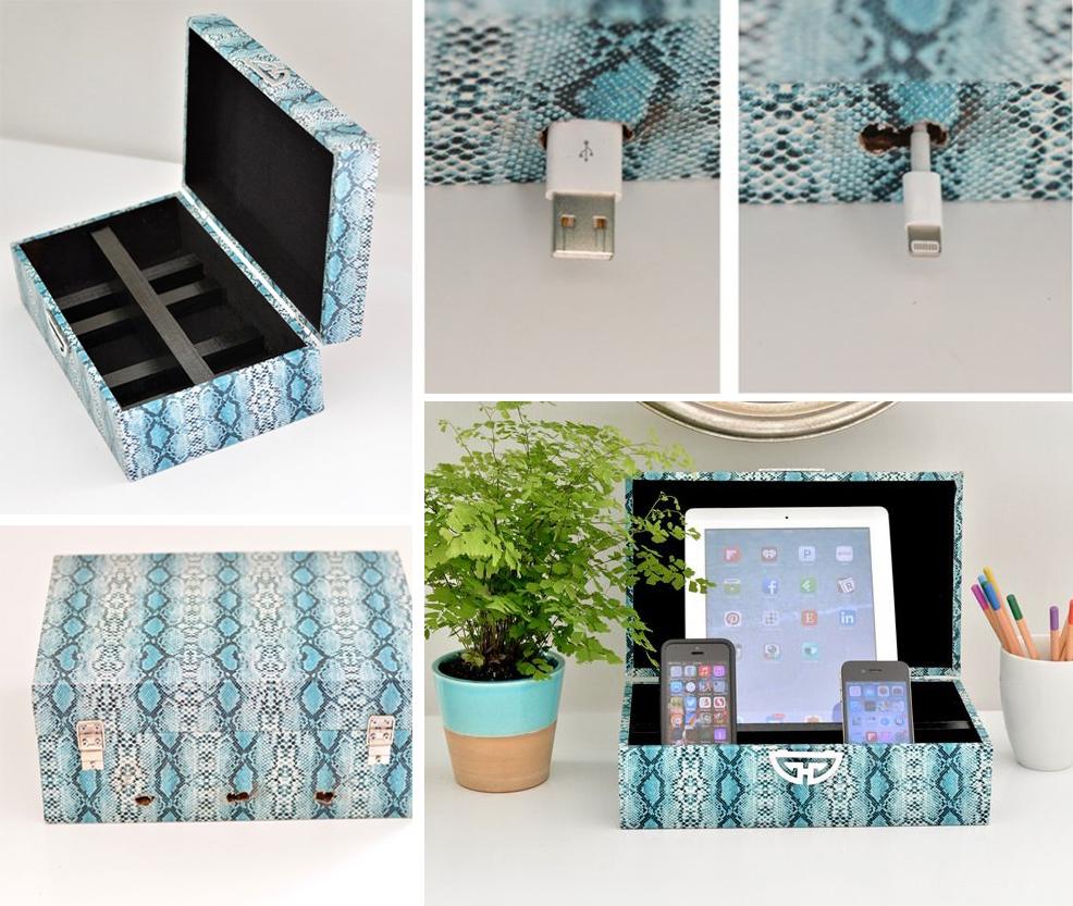 14.diy becorative box charding station