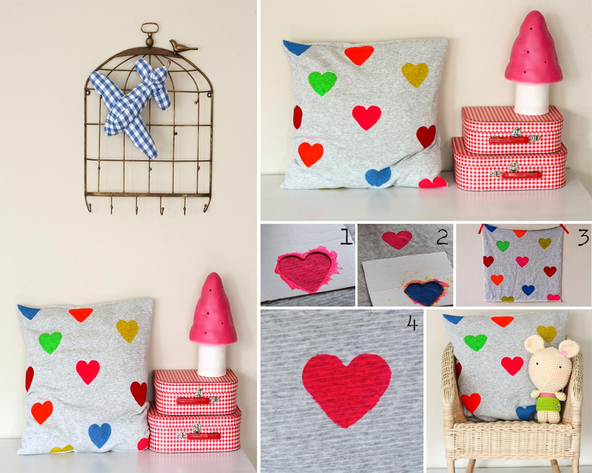 2. Hearts cushion DIY. sundayincolor