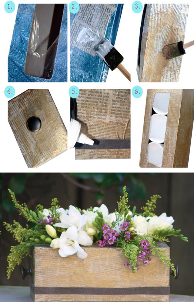 4.flower vase from tissue box