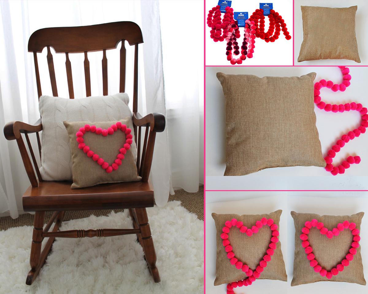 8. HEART POM POM PILLOW. sisterssuitcaseblog.com