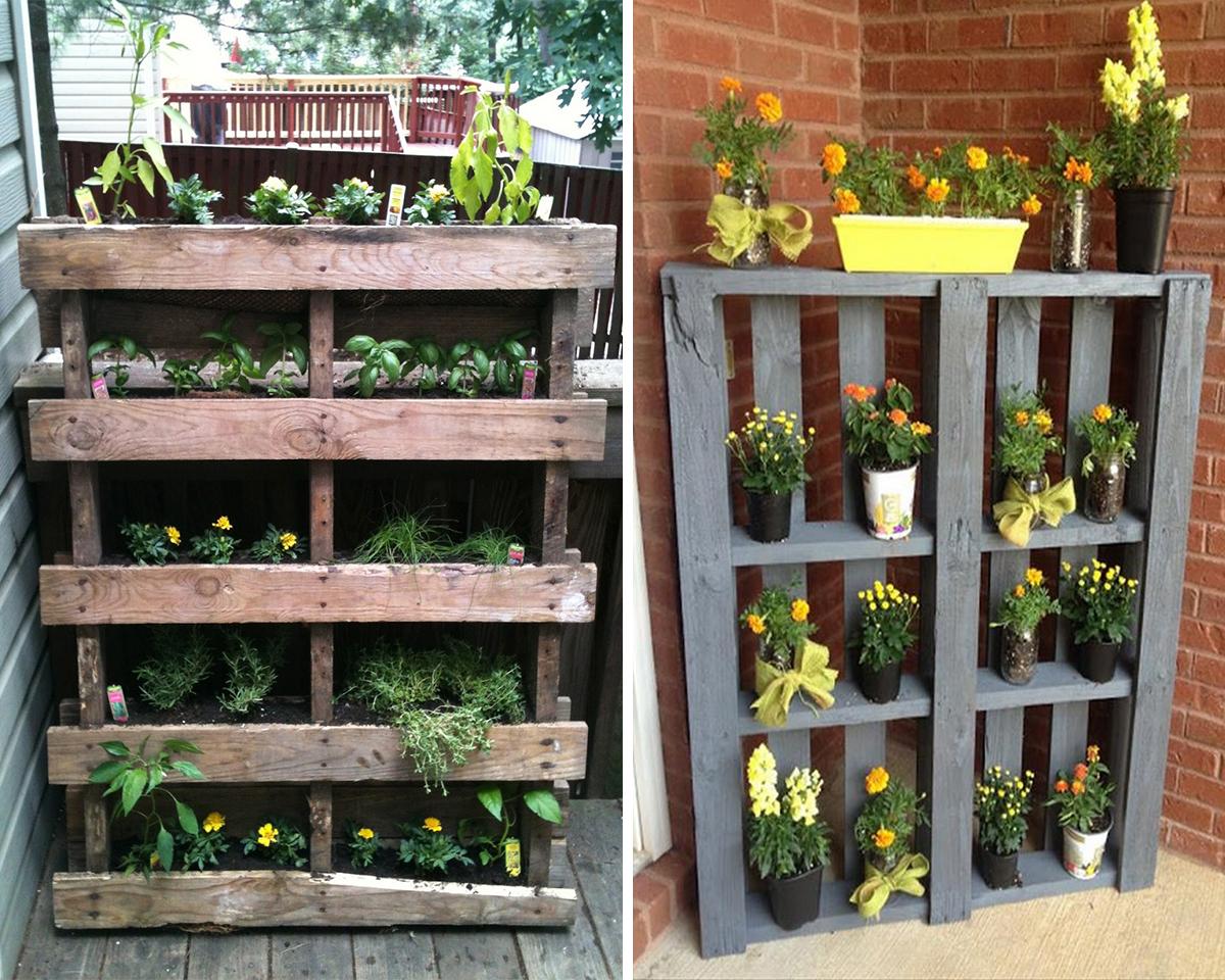 pallet vertical garden rack