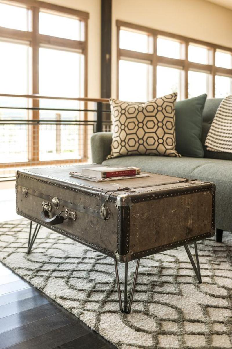 suitecase centre table