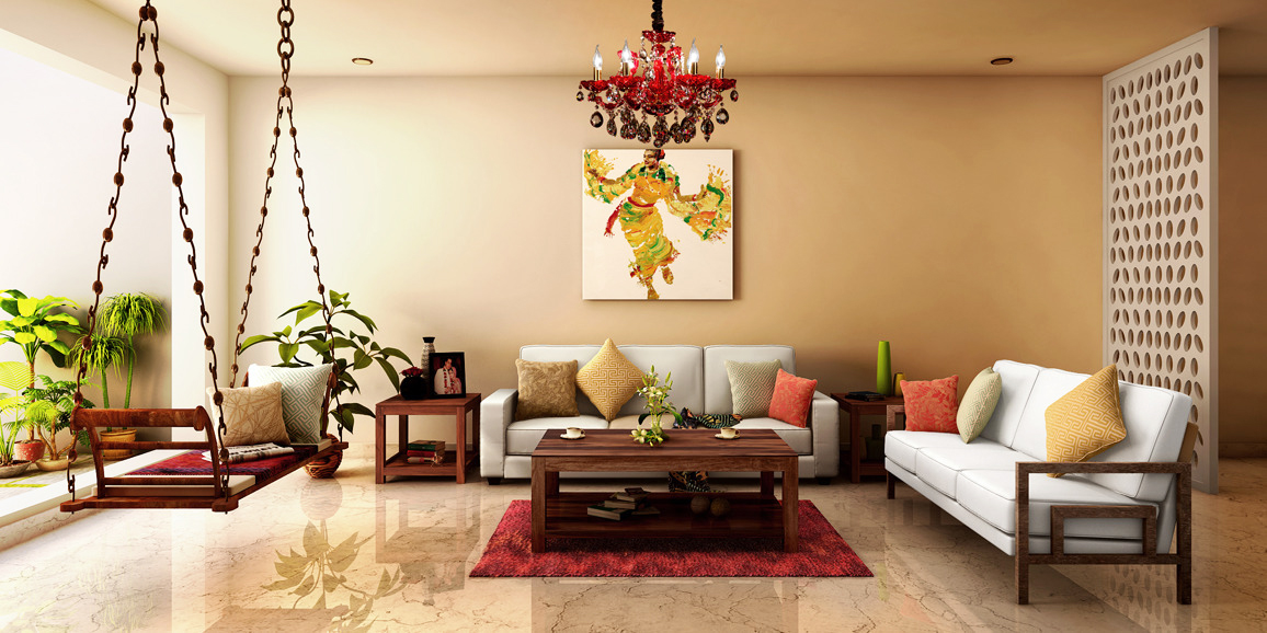 Decor inspiration 8 ways to infuse south indian decor for Living room ideas indian