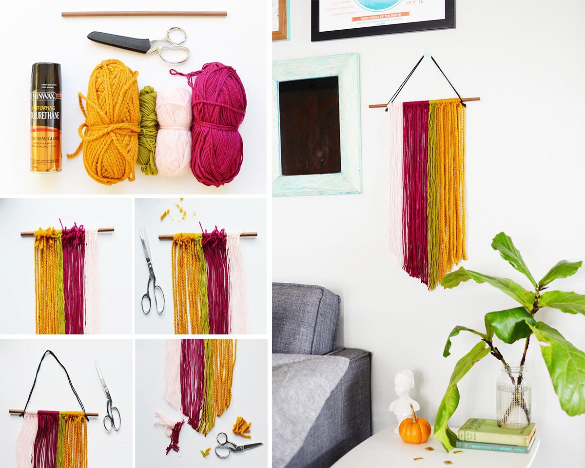 15 creative diy wall art ideas that anyone can do homebliss for Diy yarn wall art