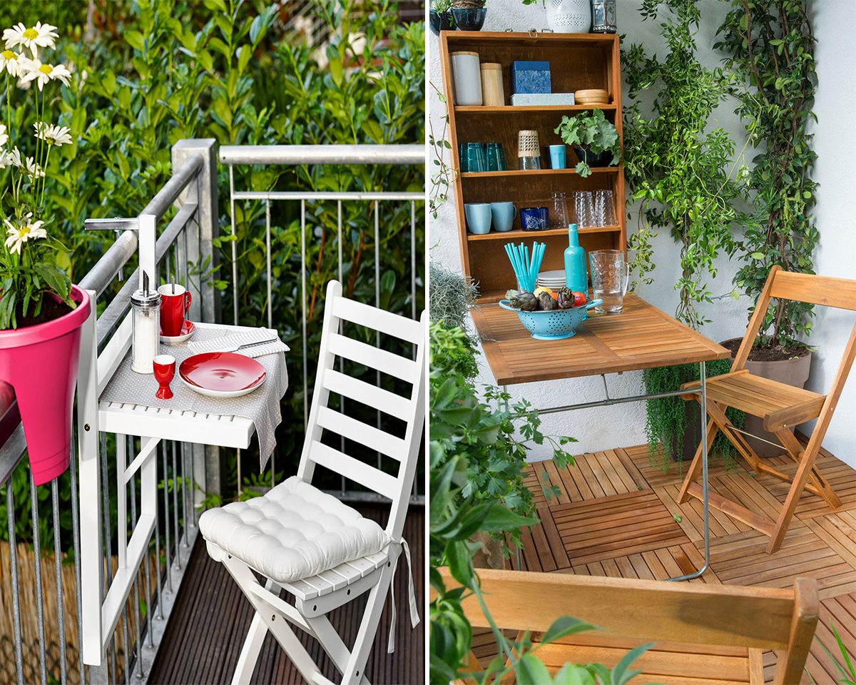16 Ways To Make Your Balcony A Walk In Paradise Homebliss. Balcony Hanging  Table ...