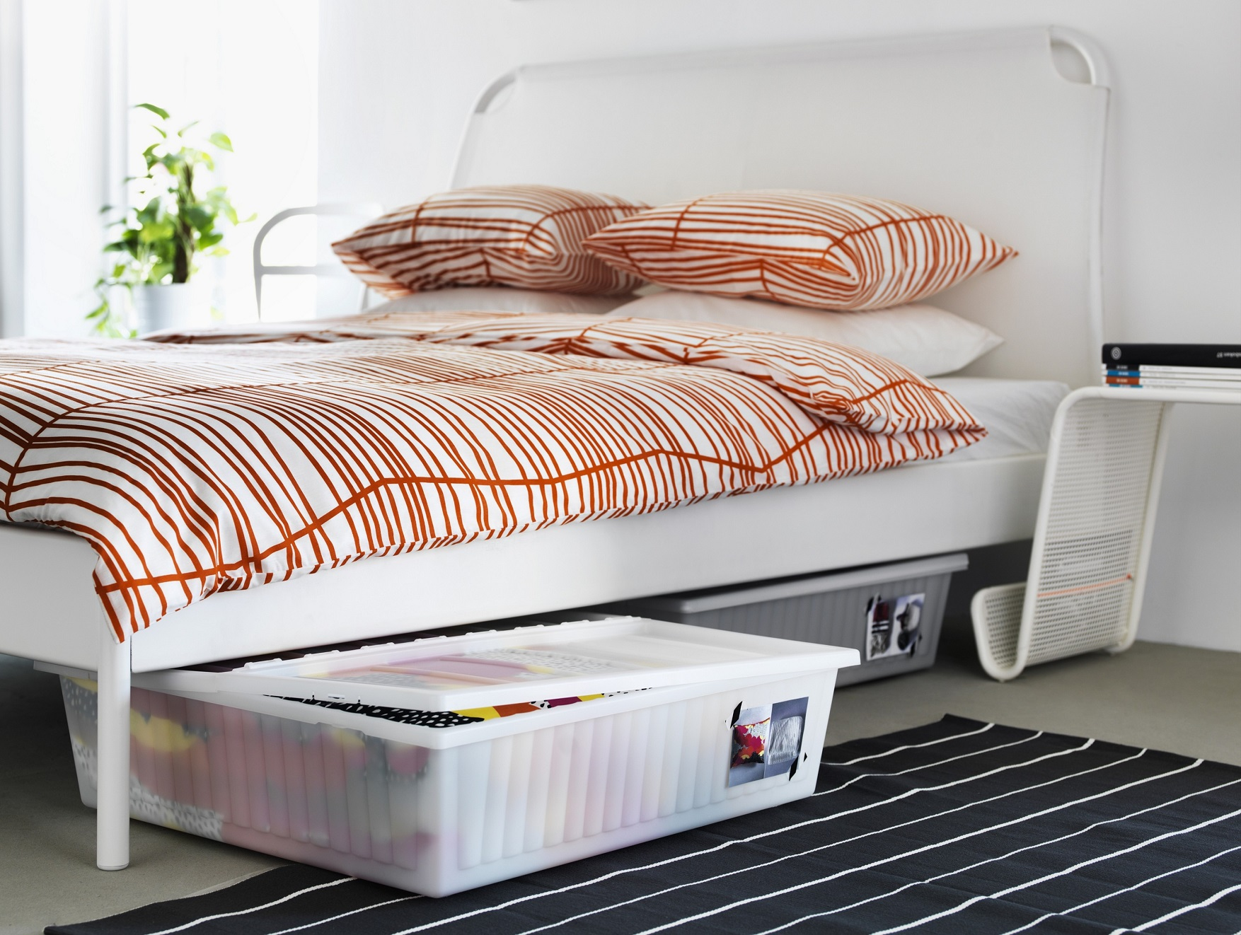 If Your Bed Lacks Storage, Then Use Storage Boxes To Cope Up.