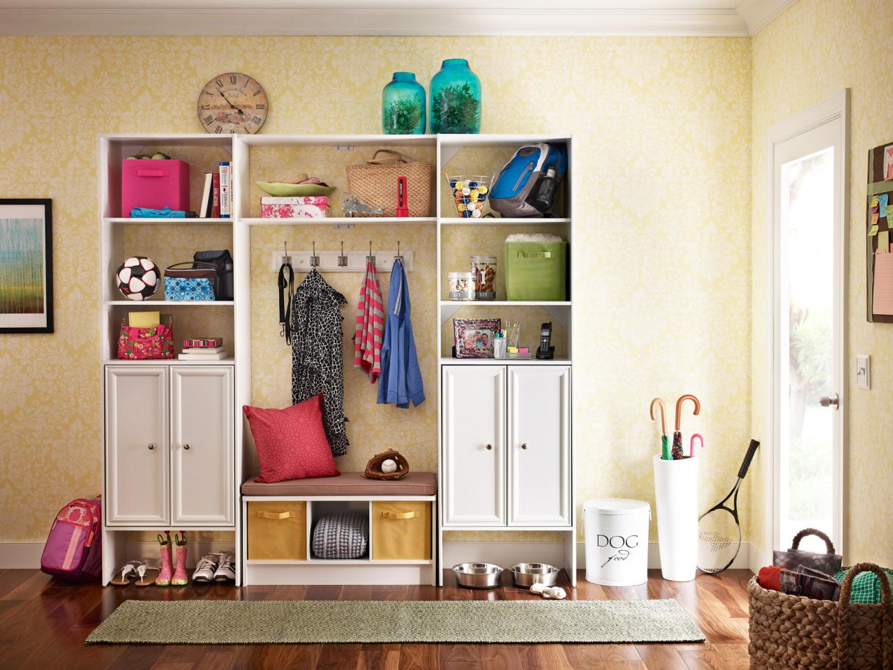 mudroom entryway storage
