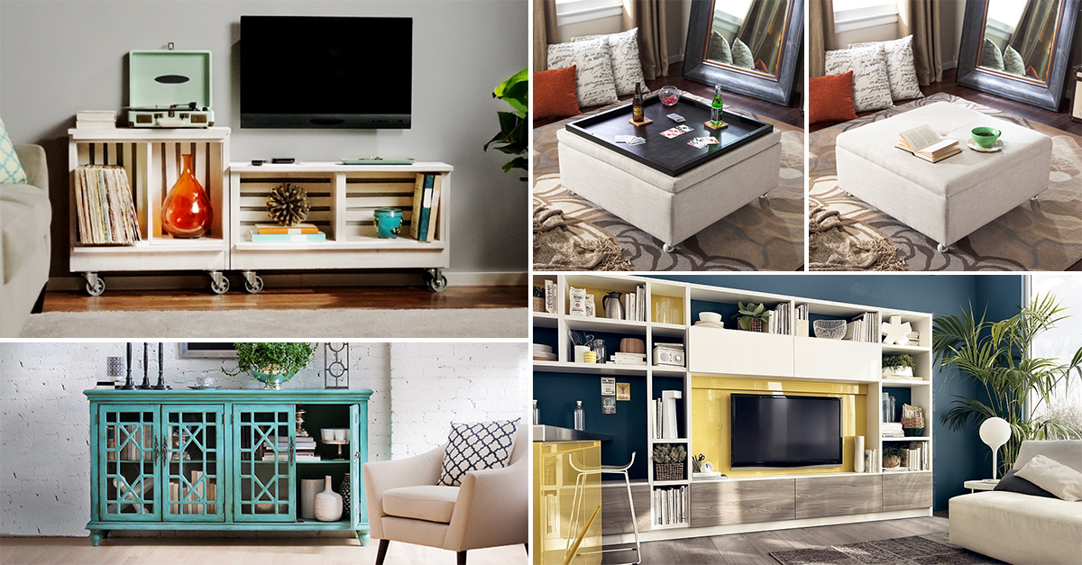 Organizing hacks 10 secret ways to organize your living for Organize small living room