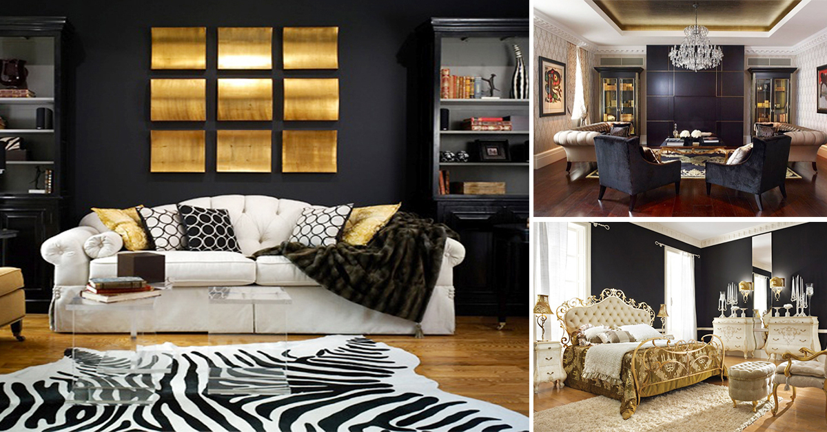 Stunning black and gold décor ideas