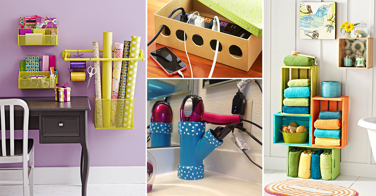 13 Awesome Storage Projects To Declutter Your Home Homebliss
