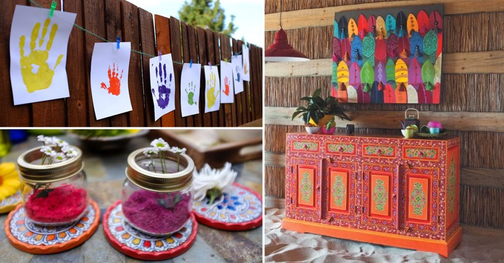 7 ways to get your home holi ready this year homebliss for Holi decorations at home