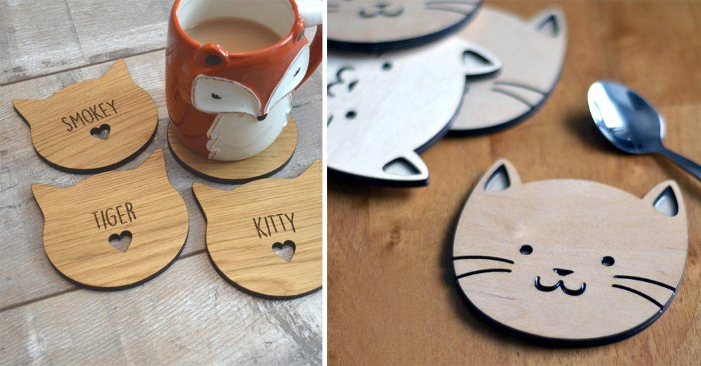 DIY Cat Coaster