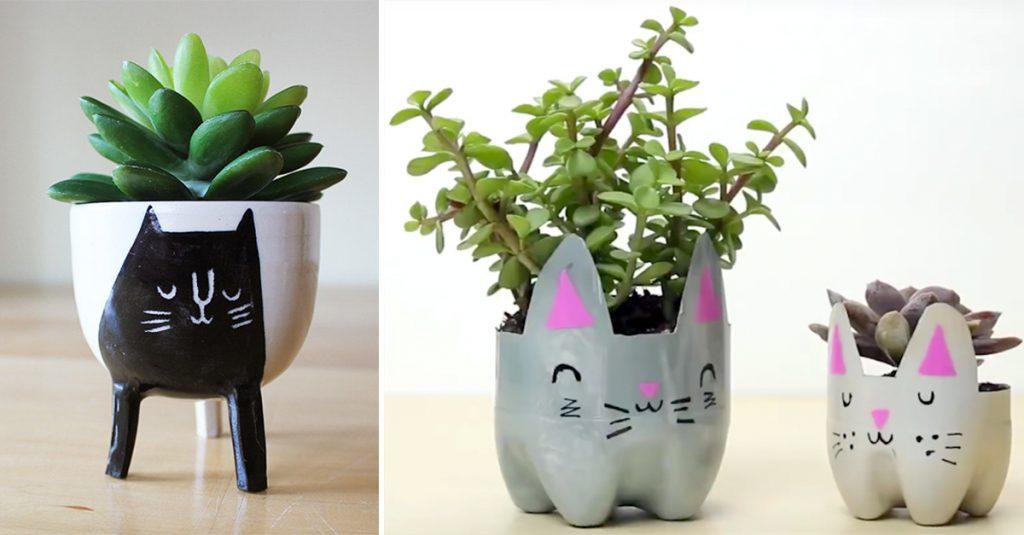 DIY Cat Planter