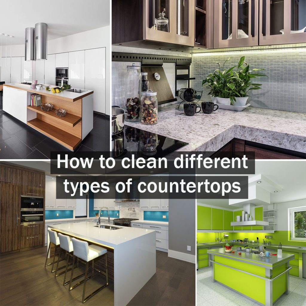 How To Clean Different Types Of Kitchen Countertops