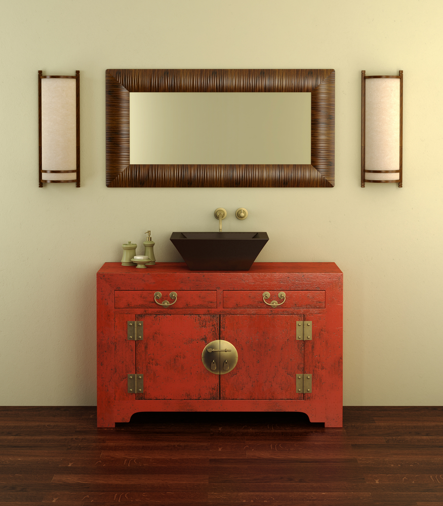 Bathroom built in storage idea