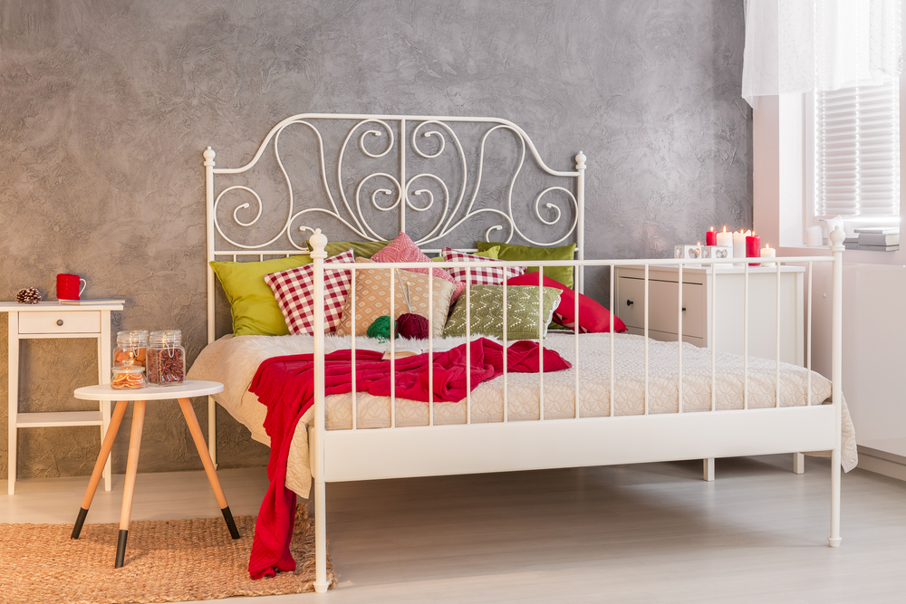 Wrought iron bed for small bedroom
