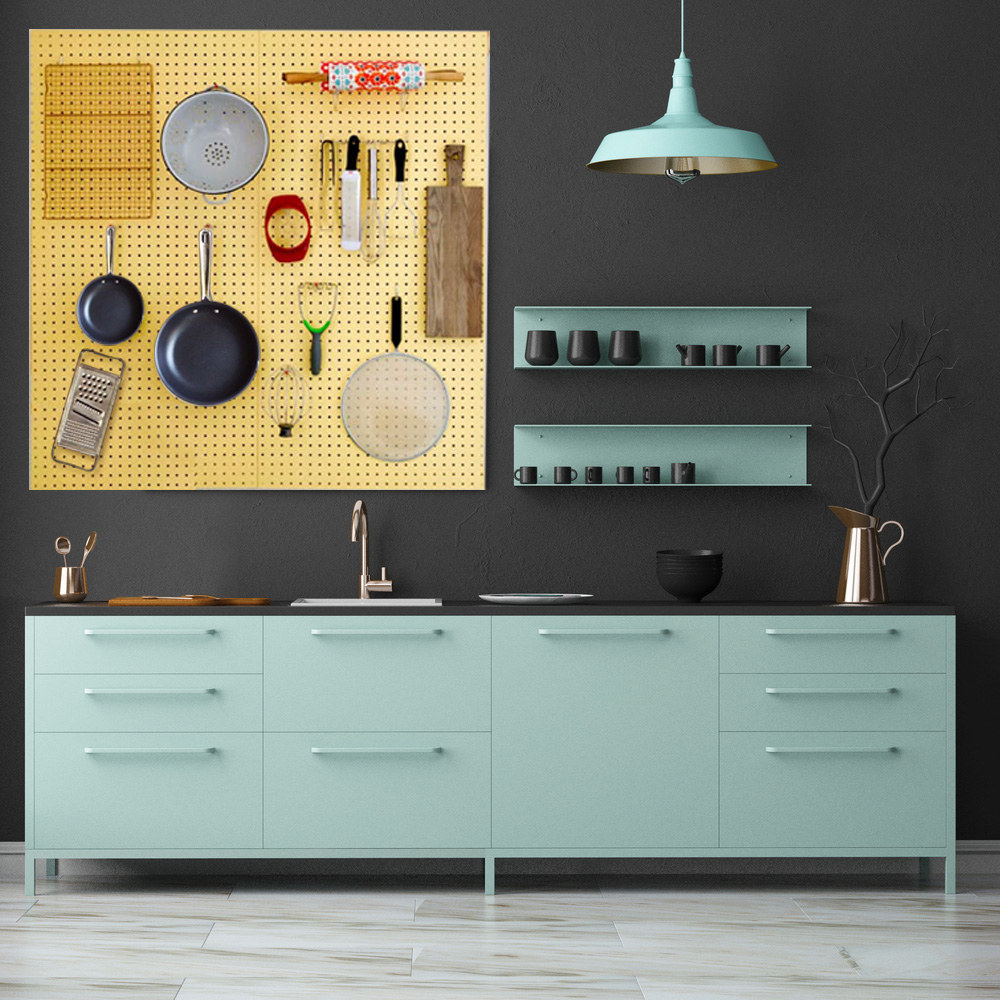 Pegboard Storage Ideas for Kitchen