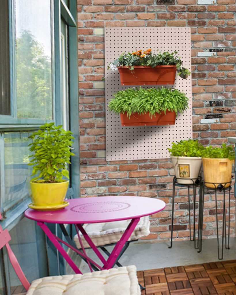 Pegboard Storage Ideas for Blacony and Garden