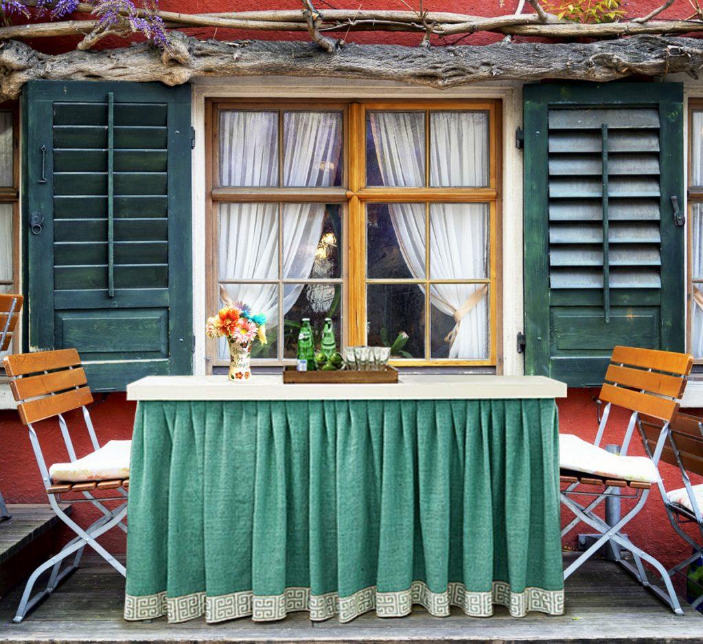 Porch Buffet Table