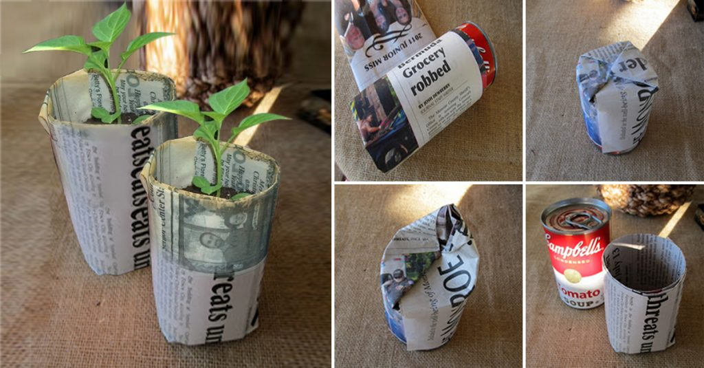 DIY Newspaper Pot