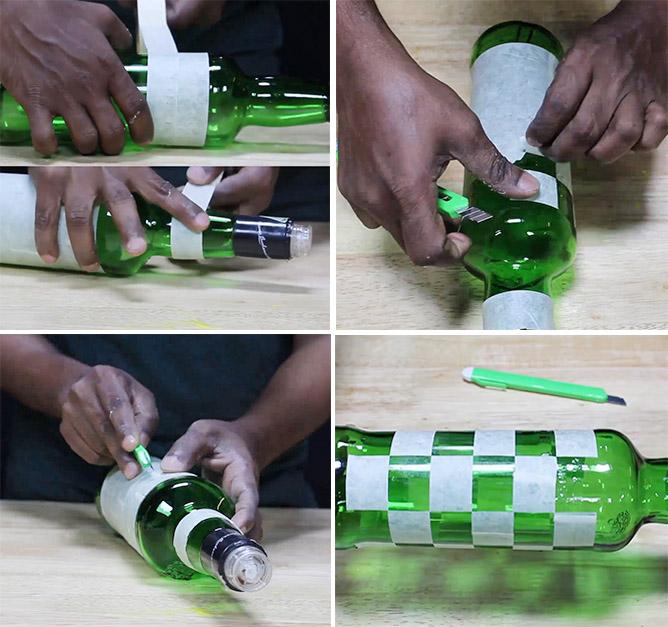 DIY Bottle Art
