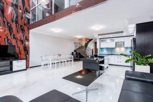 What is an open floor plan?