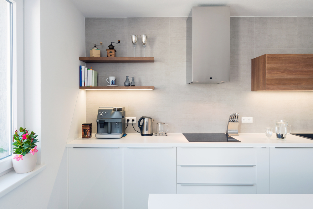 Advantages of having open shelving in kitchen