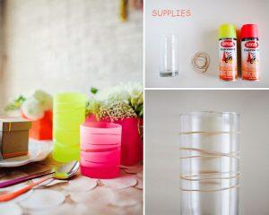 DIY Striped Vase