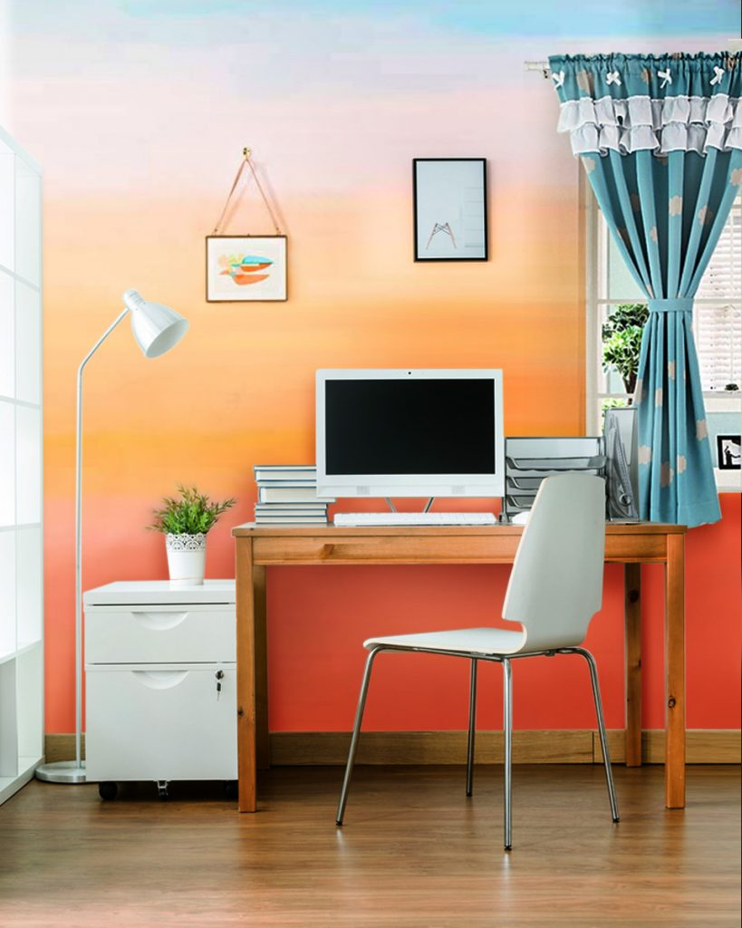 How to DIY a Sunset-Inspired Wall Treatment