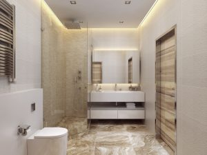 6 feng shui solutions to challenging bathroom locations. Black Bedroom Furniture Sets. Home Design Ideas