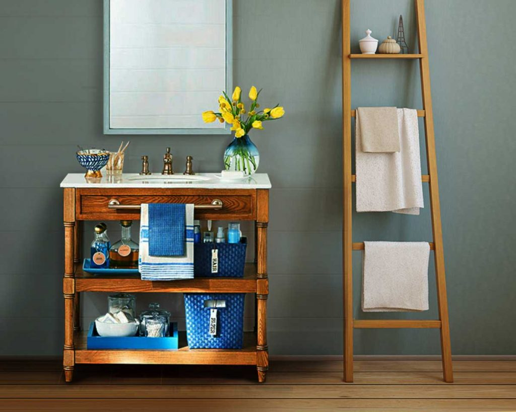 Here's Why You Need A Ladder Shelf