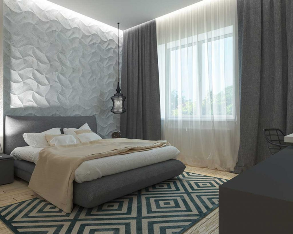 Create a Luxurious Hotel-like Bedroom - Add black out curtains