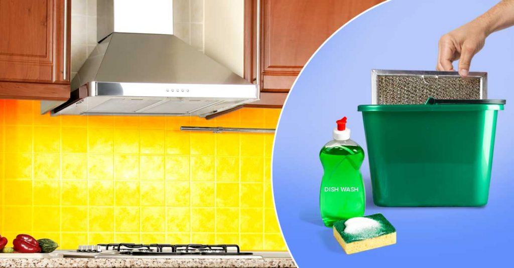 How to Clean a Kitchen Chimney - Dishwashing Liquid