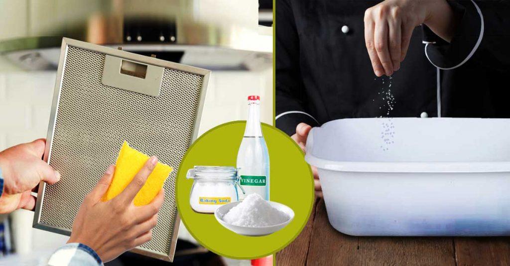 How to Clean a Kitchen Chimney - Vinegar, Salt & Baking Soda