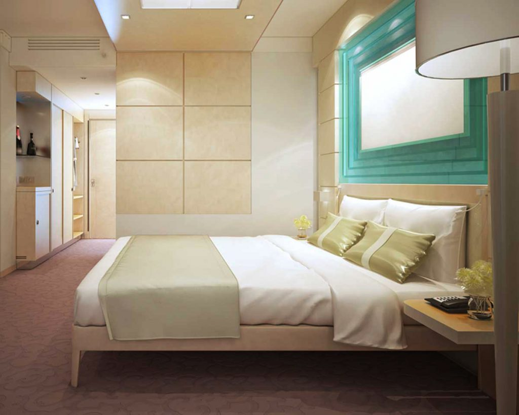 Create a Luxurious Hotel-like Bedroom - Keep the color scheme calming