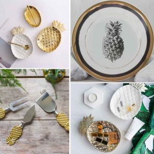 6 Ways to Decorate with Pineapple Print - Crockery