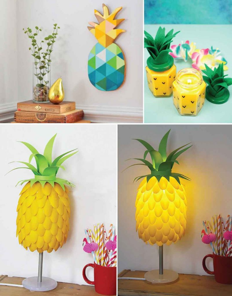 6 Ways to Decorate with Pineapple Print - DIY