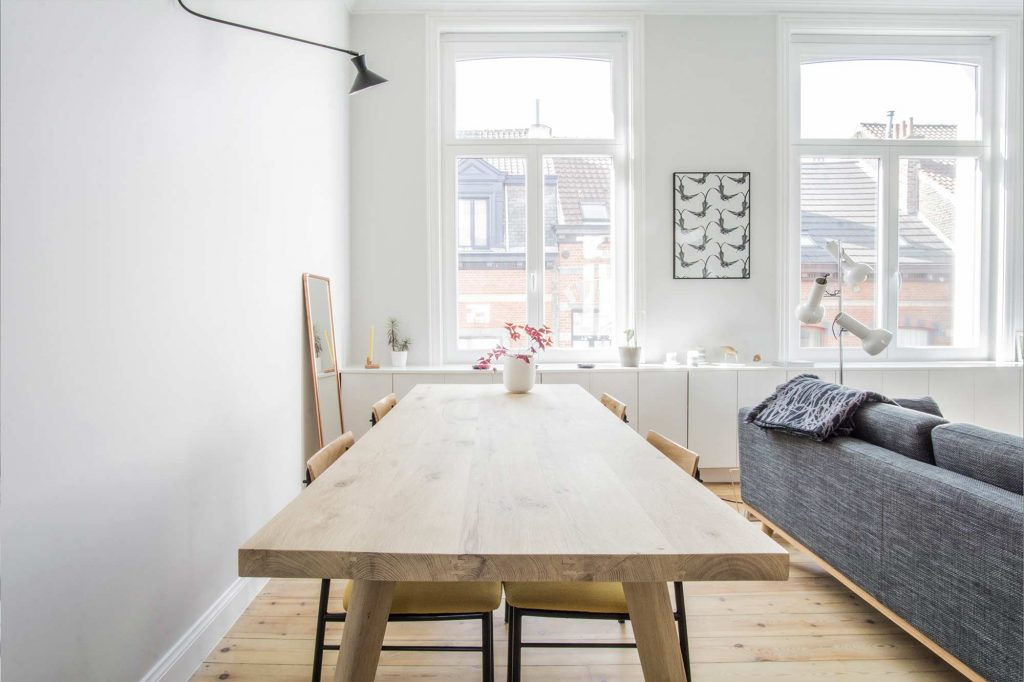 Belgian Style Decor with Simple-Looking Furniture