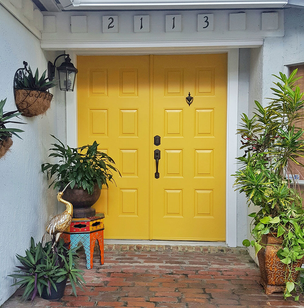 Bold Yellow Front Door