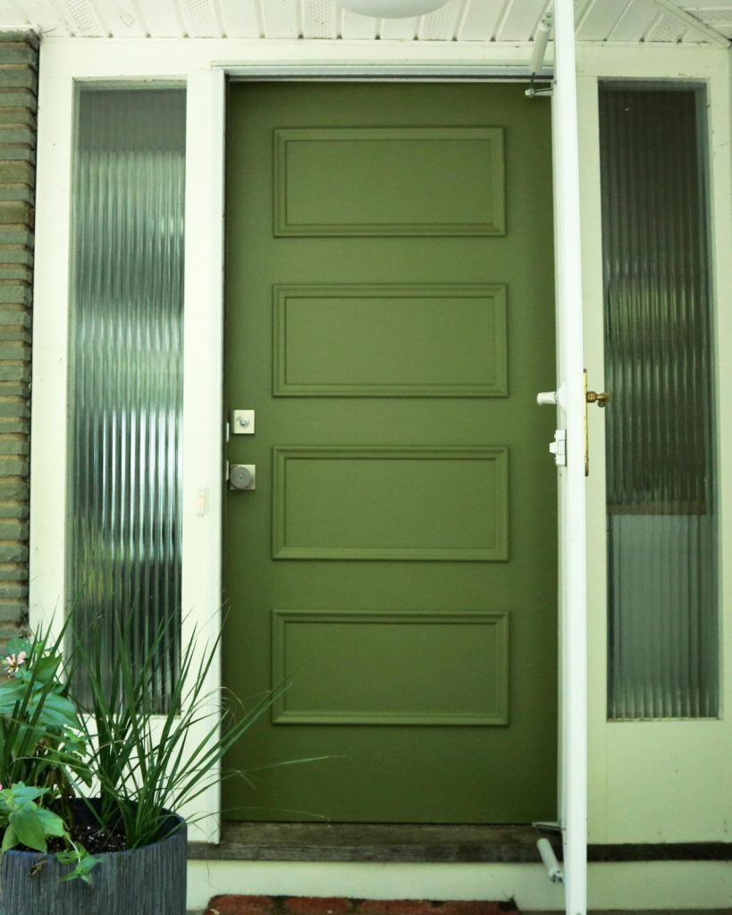 Bold Green Front Door