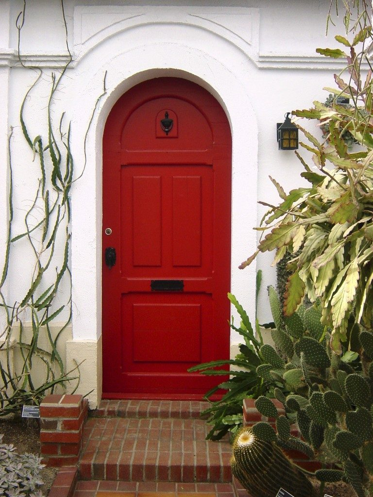 Bold Fiery Red Front Door