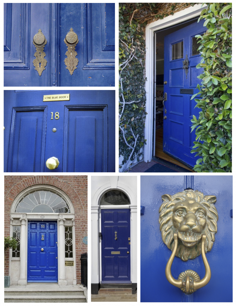 Bold Denim Blue Front Door